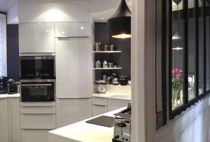 Rénovation de cuisine, création de cuisines modernes avec verrière - Entreprise Les Goûts et Les Couleurs Paris Montmorency
