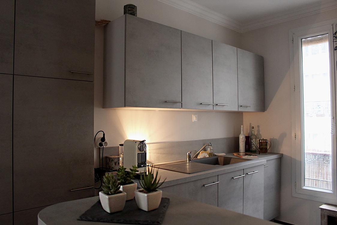 R novation de cuisine avec verri re entreprise lgelc paris for Entreprise de renovation interieur