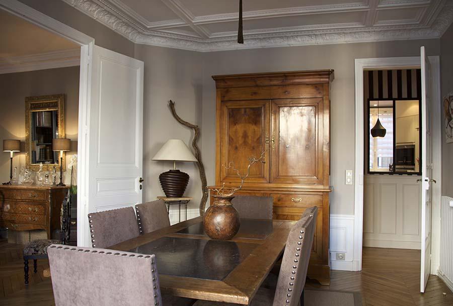 Rénovation de salle à manger, salon, living room - Entreprise Les Goûts et Les Couleurs Paris Montmorency