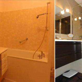 Exemple de rénovation de salle de bain Les Goûts et Les Couleurs Paris Montmorency