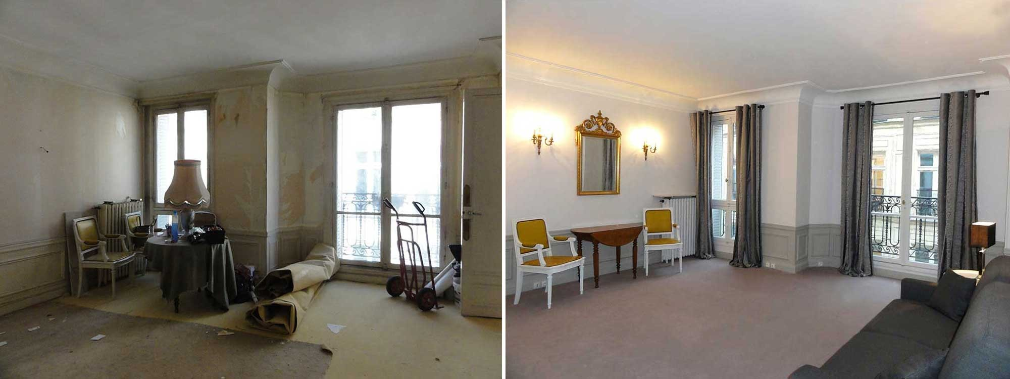 Exemples avant apr s r novation int rieure lgelc paris - Renovation avant apres ...